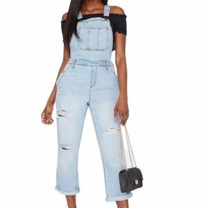 NWT Refuge Distressed Cuffed Jean Overall XL
